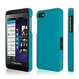 Empire KLIX Slim-Fit Harte Case Tasche Hülle for BlackBerry Z10 - Soft Touch Teal (Displayschutzfoli