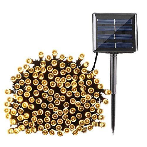 d6684cf89ca Qedertek Cadena de luces con Energía Solar 22M 200 LED Guirnalda de ...