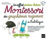 Le coffret écriture-lecture Montessori des graphèmes rugueux de Balthazar