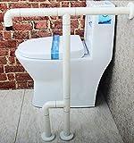 NAERFB Badezimmer Griff Barrierefrei Nylon Handlauf Handläufe für Ältere Behinderte Bad WC Badezimmer Waschbecken Armlehne Dusche Griffstange (Farbe: Weiß)