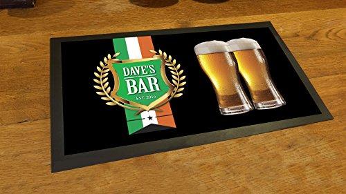 Personalizzato bandiera irlandese nastro Crest Bar Pub Tappetino runner Counter