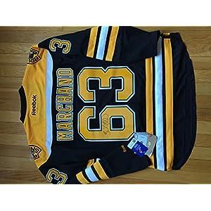 Reebok NHL Eishockey Trikot Jersey Premier Boston Bruins Brad Marchand #63 schwarz