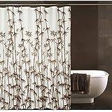 Bambuswald Muster Duschvorhang, Schimmel Beweis und Wasser Beweis Polyester Stoff Duschvorhang für Hotel und Haus (78 Zoll von 78 Zoll)