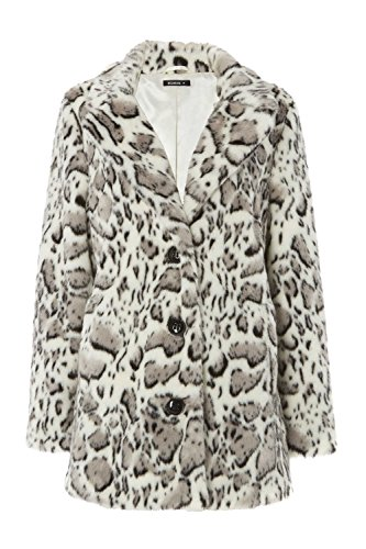 Roman Originals Women's Animal Faux Fur Coat