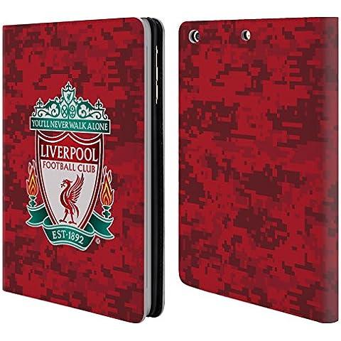 Ufficiale Liverpool Football Club Home Stemma Rosso Camouflage Digitale Cover a portafoglio in pelle per Apple iPad mini 1 / 2 / 3