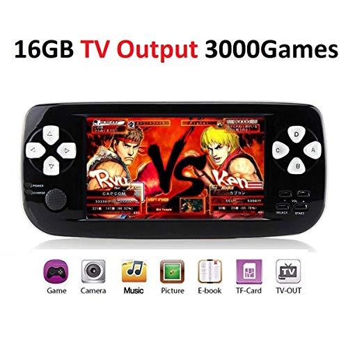Anbernic Handheld Spielkonsole , Pap-KIII 4.3 Zoll 3000 Retro Spielkonsole Konsole TV Output - Schwarz X16