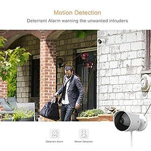 yi cámara de vigilancia para exteriores, 1080p HD inalámbrica seguridad BULLET cámara impermeable IP sistema de cámara con audio bidireccional, visión nocturna, detección de movimiento, color blanco
