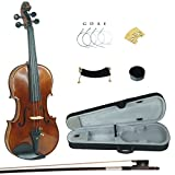 Kinglos PHB1004 4/4 Full Size Handcrafted Solid Wood Student Acoustic Violin Fiddle Starter