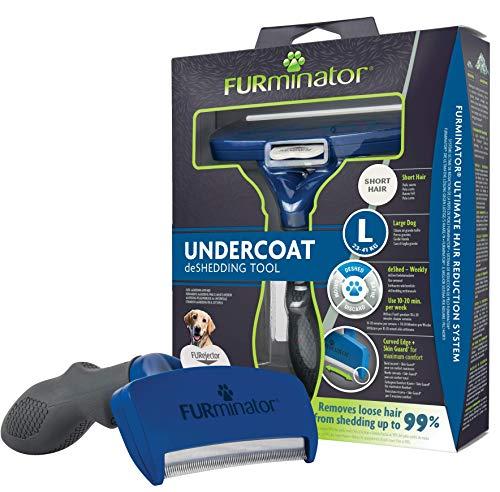 """FURminator deShedding Hunde-Pflegewerkzeug zur Fellpflege -€"""" Hundebürste in Größe L zur gründlichen Entfernung von Unterwolle und losen Haaren - für kurzhaarige Hunde"""