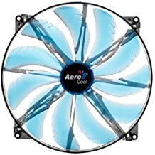 Aerocool Silent Master Ventola da 200 mm a 800 Giri a LED, Blu
