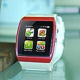 CursOnline New reloj teléfono con SIM y Bluetooth Mod.U Pro 3, Watch (versión M2C del Mod.U8) Color Rosa/Fucsia, Compatible con cualquier teléfono, Sport & Fitness, podómetro, Cámara, Radio Menu (italiano y ranura TF Card Mod.col459-15