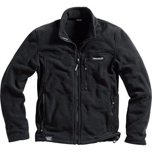 reusch Fleecejacke Herren Fleece Jacke 1.0 Freizeitbekleidung Funktionsjacke, warm, atmungsaktiv, weich ohne zu schwitzen, Bundabschluss, schwarz, L