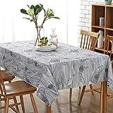 QDE Nappe Rétro Lin Nappe Coton Lavable Café Nappe Table Pour Banquet De Mariage De Noël, 50X80CM