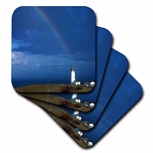 CST _ 93783Danita Delimont–Leuchttürme–Rainbow, yakina Bay Leuchtturm, Newport, Oregon–US38jmi0657–Janis Miglavs–Untersetzer, Gummi, set-of-4-Soft (Küsten-dekor-tischsets)