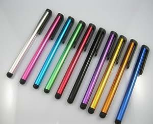 5 x Stylet Capacitif pour écrans Tactiles de Tablettes et téléphone (iPhone, iPad, Samsung, Motorola, Kindle, LG, HTC, Sony, Huawei, Blackberry, Archos, Asus) - Mix de coloris