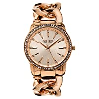 So & Co New York SoHo Women's Quartz Watch with Rose Gold Dial Analogue Display and Rose Gold Stainless Steel Bracelet 5071.4
