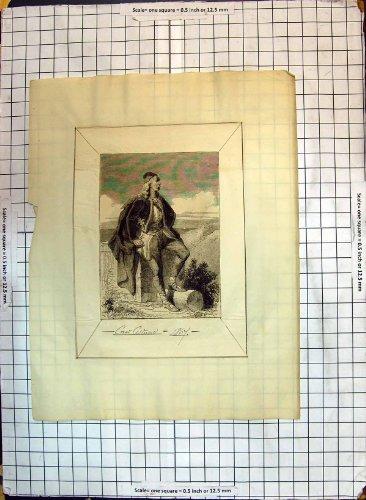 Antikes Druck-Mann-Mode-Kroatisch-Kostüm-Kleid (1867 Kleid Kostüm)