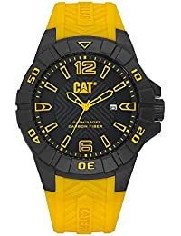 CAT Karbon Men's Watch Black & Yellow Dial 45.5 MM Yellow Silicone K1.121.27.137
