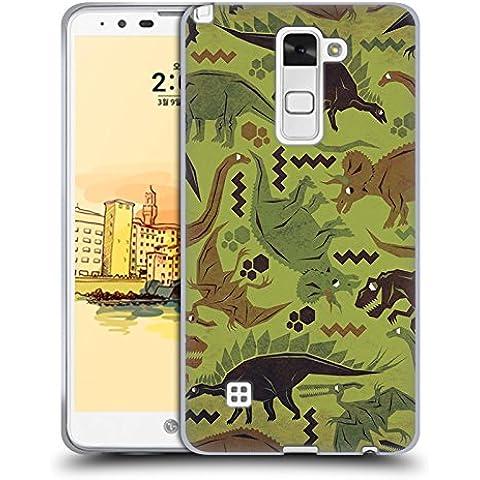Ufficiale Chobopop Camouflage Dinosauri Cover Morbida In Gel Per LG Stylus 2