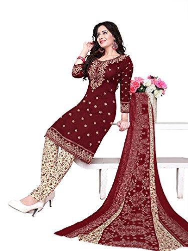 Raghavjee Sarees women's printed unstitched chudidar crepe dress material salwar kameez kurta punjabi suit