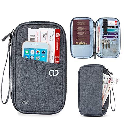 dayday Cartera para Pasaporte Organizador Billetera de Viaje con Protección RFID. Porta Pasaporte para Hombres y Mujeres Tarjeta de crédito, carnet de Identidad y Billetes de avión.