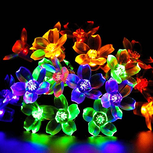 Uping-Solar-powered-LED-Fairy-Lights-8-Mode-String-light-50er-flowers-7M-Multi-color-waterproof-for-Indoor-Outdoor-Party-Garden-Christmas-Halloween-Wedding-Home-Bedroom-Yard-Deck-Decoration