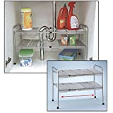 2 Tier Expandable Adjustable Under Sink ...