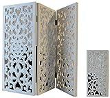 Fensterdeko Deko Aufsteller Holztafel Ornament Dekoration Holz Shabby (Weiß)