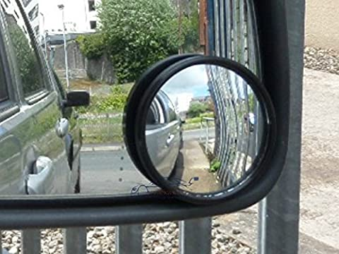 XtremeAuto® 2 x Stick on Rear View Blind Spot Mirror Accessory - 2
