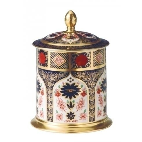 Royal Crown Derby Old Imari Solid Gold Band Sgb 35oz Small Storage Jar