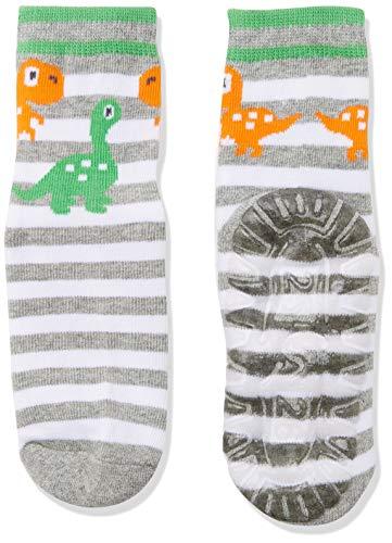 Sterntaler Söckchen, Fliesen Flitzer Air, Dino-Motiv, Alter: 6-12 Monate, Schuhgröße: 17-18, Silber - Silber Mädchen Shorts
