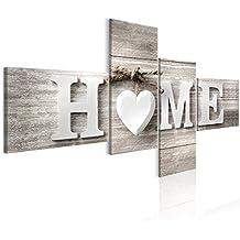 Decomonkey | Bilder Home 200x100 Cm | 4 Teilig | Leinwandbilder | Bild Auf  Leinwand |
