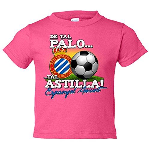 Camiseta niño de tal palo tal astilla Espanyol Amunt - Rosa, 12-14 años