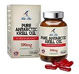 Puro Olio di Krill Antartico di Rite-Flex - Superba BoostTM 590mg 30 Licaps® Marine - Supporta la normale funzionalita' del cuore e del cervello - con fosfolipidi e Astaxantina - Prodotto in Francia