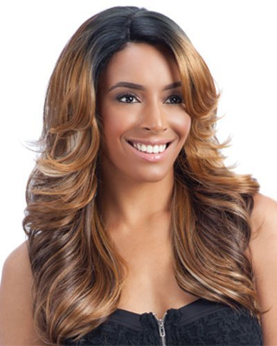 Freetress Equal Lace Deep Diagonal Part Lace Front Wig LENA (1B) by Freetress