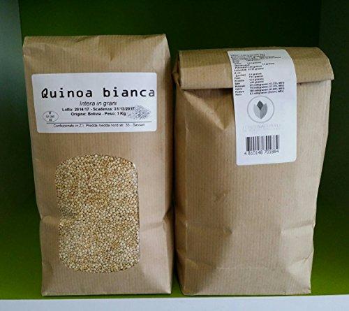 Quinoa bianca in grani della Bolivia - TOP QUALITY! - pacco da 1 kg