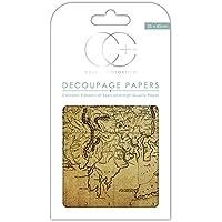Papel decorativo de gran calidad para découpage marca Craft Consortium, diseño de mapa mundial 2