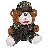 BKL1 Teddybär Hans mit Anzug und Mütze Flecktarn 28 cm BW 1772