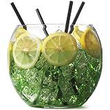 Cuenco de cóctel de cristal 2,6litros/16,5cm | Bar @ Drinkstuff peces cuenco | 4,5pinta pecera, parte Fish Bowl, bebedores peces cuenco–pecera para cócteles