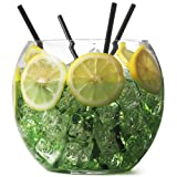 bar@drinkstuff Glasbowle für Cocktails, 2,6 l, 16,5 cm