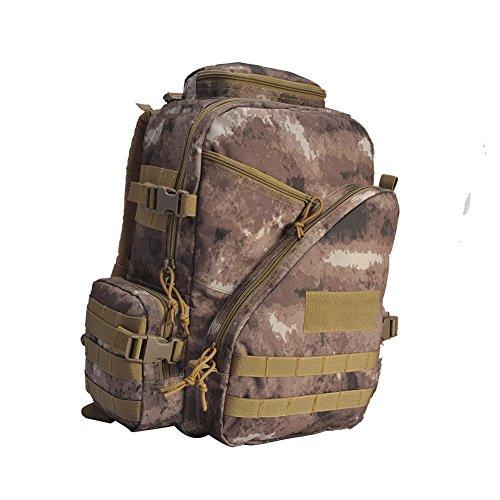 YAKEDA® Taktischer Rucksack Outdoor-Rucksack Bergsteigen Taschen Radtourpaket Camping Paket Casual Day Rucksack Tarnung Tasche Wasserdichte Outdoor-Wander-Rucksack 35L - A88046 (schwarz) Wüstentarnfarbe
