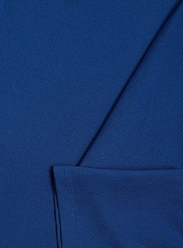 """oodji Collection Femme Robe Ample avec Manche """"Chauve-Souris"""" Bleu (7500N)"""
