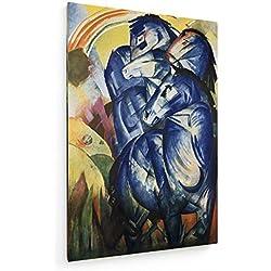 Franz Marc - Der Turm der Blauen Pferde - 20x30 cm - Leinwandbild auf Keilrahmen - Wand-Bild - Kunst, Gemälde, Foto, Bild auf Leinwand - Alte Meister/Museum
