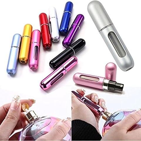 Distinct® 2pcs 5ML Mini Parfum Rechargeable atomiseur Voyage Métal Bouteille spray Portable Bouteilles couleur aléatoire