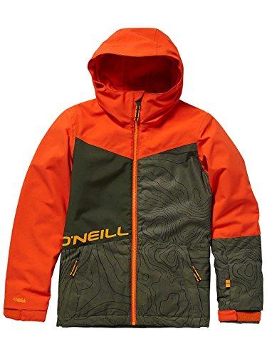 O'Neill Jungen Kinder Snowboard Jacke Hubble Jacket Boys, Green AOP w/Black, 176 (Kids Snowboard-jacke Für)
