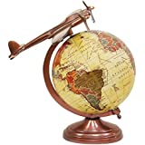 EnticeSelections Globe - Hand Made Antique Premium Look Globes - World Globe 8 Inch - Large Size Political Globe - Decorative Gift Item For Home And Office - Gifts For Boss- Travel Gifts -Map Of The World