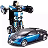 Super Toy Converting Car to Robot Transformer with Remote Controller for Kids - Multi Colour