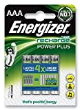 Energizer - Rechargeable Battery, Power Plus, AAA, hr03, 1.2v, 700mah, 4 Pieces