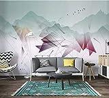 HONGYUANZHANG Stilvolle Bunte Linien Tapete Des Foto-3D Künstlerische Landschafts-Fernsehhintergrund-Tapete,116Inch (H) X 148Inch (W)