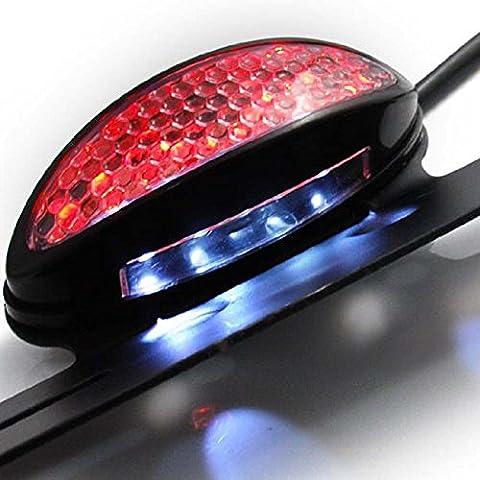 Hakkin Feu Arrière Frein Plaque 19 LEDs Pour Moto ATV Motocyclette